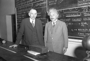 Richard Tolman and Albert Einstein, 1932.